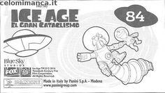 L'era glaciale - In rotta di collisione: Retro Figurina n. 84 -