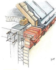 38 Ideas Drawing Architecture Detail For 2019 – Drawing Ideas Section Drawing Architecture, Detail Architecture, Architecture Building Design, Concrete Architecture, Construction Drawings, Construction Design, Roof Design, Facade Design, Roof Detail