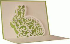 Silhouette Design Store - View Design #75751: 5x7 bunny flourish pop up card
