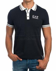 Polos Armani EA7 - Azul Marino Armani Polo, Emporio Armani, Camisa Polo, Polo Design, Royal Look, Ralph Lauren Style, Men Dress, Shirts, Mens Fashion