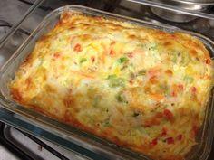 Receita de Omelete de forno sem óleo.