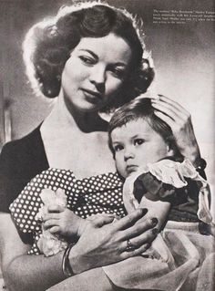 Shirley Temple and her daughter Linda Susan in Look Magazine, 23rd May 1950.