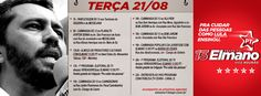 Confira nossa agenda desta terça (21) e compareça às nossas atividades! #Elmano13doPT