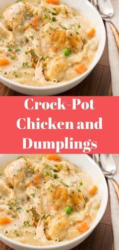 Crock-Pot Chicken and Dumplings #Crock-Pot #Chicken and #Dumplings #Recipe #Meals