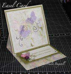 Floral Impressions Anniversary Easel Card 1