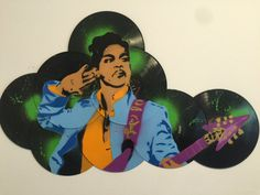 This is an one of a kind Prince graffiti art on 8 vinyl records. Its colorful… Stencil Art, Spray Painting, Painting, Art, My Arts, Graffiti Art, Street Art, Pop Art, Stencils