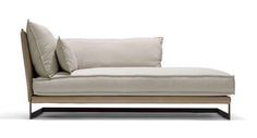 Upholstered Chaise, bronzed base
