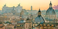 Blick über Rom, von der Engelsburg aus #Italien