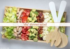 This DIY dinner salad is the easy go-to you need right now! Wheat Free Baking, Great Dinner Ideas, Plum Tomatoes, Dinner Salads, Boneless Skinless Chicken, How To Make Salad, Everyday Food, Feta, Gluten
