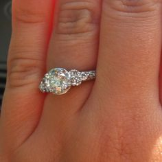 My dream ring from my dream man for my dream Wedding!
