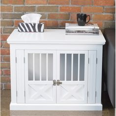 I really like the French doors on this crate, and the fact that they fold all the way back. It's a total bummer that it's only available in white and black.  Wayfair.com - Online Home Store for Furniture, Decor, Outdoors & More
