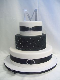 """Fondant covered.  14"""", 10"""". 7"""" tiers.  Dummy cake for bridal..."""