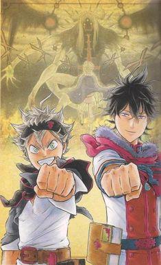 Asta e Yuno Angel Manga, Manga Anime, Anime Art, Black Clover Asta, Black Clover Anime, Black Cover, One Piece Manga, Anime Life, Tabata