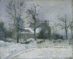 Piette's House at Montfoucault: Snow Effect -  Camille Pissarro  1874  French 1830-1903
