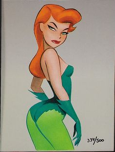 Poison Ivy by Bruce Timm  ★ || CHARACTER DESIGN REFERENCES (https://www.facebook.com/CharacterDesignReferences & https://www.pinterest.com/characterdesigh) • Love Character Design? Join the #CDChallenge (link→ https://www.facebook.com/groups/CharacterDesignChallenge) Share your unique vision of a theme, promote your art in a community of over 30.000 artists! || ★