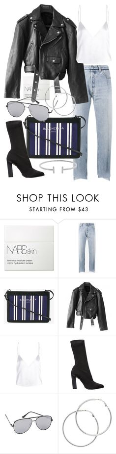 """Untitled #21155"" by florencia95 ❤ liked on Polyvore featuring NARS Cosmetics, Vetements, Balenciaga, Jean-Paul Gaultier, Calvin Klein Collection, Quay, Melissa Odabash and Humble Chic"