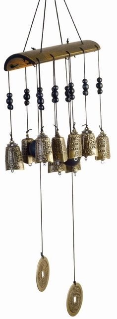 Features:  -Ten bells cast in an ancient Tibetan Buddhist design.  -Strung on a…