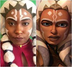 Kendra Davis, an American student, entrepreneur, and aspiring actress who cosplays as a human version of Ahsoka Tano every chance she gets.   (Image credit: Kendra Davis)