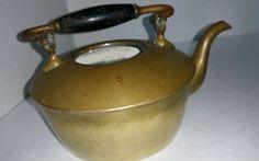 VINTAGE  S&C TRADE MARK BRASS  TEA POT KETTLE TEAPOT RARE! Brass