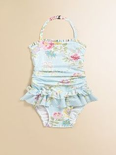 Ralph Lauren - Infant's Ruffled One-Piece Swimsuit.....this is going in our little ones wardrobe with summer fast approaching......LOVE!!