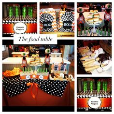Halloween food table -- designed by Charming Touch Parties
