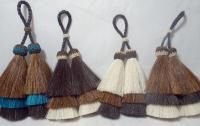 horsehair tassel   / double tassel horse hair tassel from Knot-a-Tail.com