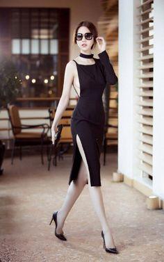 1015.39 Đen Daily Fashion, Suit Fashion, Women's Fashion Dresses, Sexy Dresses, Boho Fashion, Fashion Models, Nice Dresses, Short Dresses, Womens Fashion