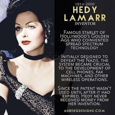 Hedy Lamarr Starlet Hollywood Golden Age Spread Spectrum Technology Torpedo frequency jamming