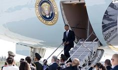 The US president was denied the usual red carpet welcome and forced to 'go out of the ass' of Air Force One, observers say.