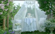 garden tea party canopies - Google Search