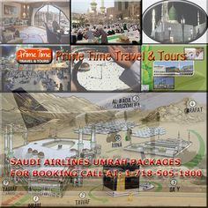 Saudi Airlines Umrah Package    With a specific end goal to settle your booking and related travel courses of action, Hajj and Umrah voyagers are benevolent needed to contact the closest SAUDIA office or travel specialists endorsed by KSA Ministry of Hajj.  Travelers going with Hajj, Umrah and visit visa should entirely take after the accompanying guidelines according to Saudi government directions.  http://www.primetimetravelnyc.com/umrah/saudi-airlines-umrah-package/