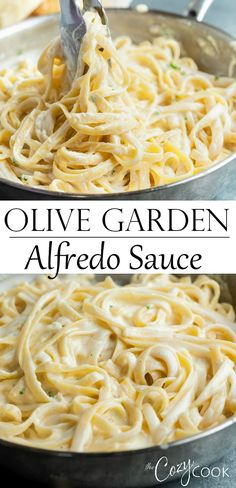 Olive Garden's Alfredo Sauce Make Olive Garden's Alfredo Sauce Recipe at home in just 20 minutes! Pair it with Fettuccine for an easy dinner idea the whole family will love! Sauce Recipes, Pasta Recipes, New Recipes, Cooking Recipes, Favorite Recipes, Healthy Recipes, Casserole Recipes, Drink Recipes, Recipies