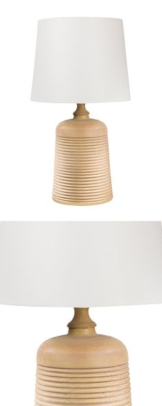 Light up your home with the Cone Peak Table Lamp for a relaxed touch of Californian style. Indented rings circle the resin base of the lamp for a chic and simple look, while the beige linen shade keeps...  Find the Cone Peak Table Lamp, as seen in the A Bohemian Cabin in Joshua Tree Collection at http://dotandbo.com/collections/a-bohemian-cabin-in-joshua-tree?utm_source=pinterest&utm_medium=organic&db_sku=115050
