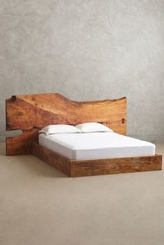 Anthropologie Live Edge Wood Queen Bed #anthrofave