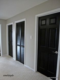 Love The Black Doors With White Trims Interior