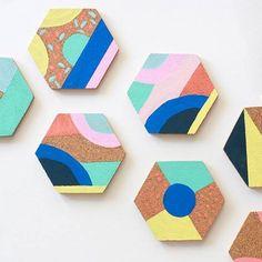DIY Cork Coaster Design Ideas! | Maybe I\'ll do this | Pinterest ...