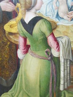 Around 1490 - detail of a Saint-Severin painting in the Louvre.