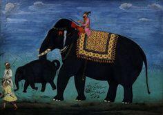 Elefant und Jungtier aus dem Stall der Moghulkaiser - History of painting - Wikipedia