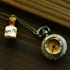 alice in wonderland collar reloj cuarzo de bolsillo alicia en el pais de las maravillas