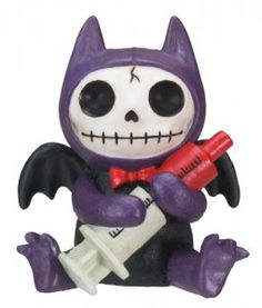 FURRY BONES - BAT FIGURINE