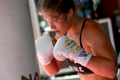 UFC Bantamweight champion Ronda Rousey works out during a media training session at the Glendale Fig... - Robert Laberge/Zuffa LLC/Getty Images
