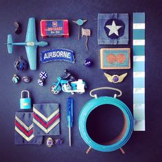 All blues.   Another instant collection of vintage finds.   Little treasures, just listed.