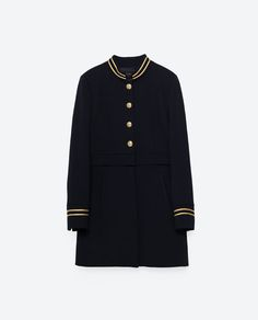 Image 11 of MANDARIN COLLAR FROCK COAT from Zara