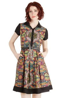 Shimmer Camp Dress, #ModCloth