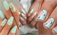 Idealne na wesele paznokcie miętowe - w kilku odsłonach