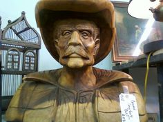 cowboy bust found at White Elephant Antiques Dallas- LOVE him.
