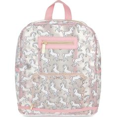 SKINNY DIP Glitter unicorn backpack (135 BRL) ❤ liked on Polyvore featuring bags, backpacks, multi, glitter backpack, daypack bag, zipper bag, zip bag and zip handle bags