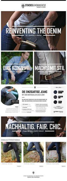 Rebranding, Corporate Design, Webdesign, Printdesign: Jeans, 100 % handmade in Bavaria: STENZ&CO