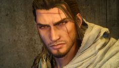 More older Gladio in his robes Fantasy Character Design, Character Inspiration, Fantasy Characters, Female Characters, Arte Final Fantasy, Noctis, Gladiolus, Dungeons And Dragons, Anime Guys