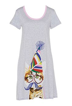 Party Cat Sleep Tee from Peter Alexander